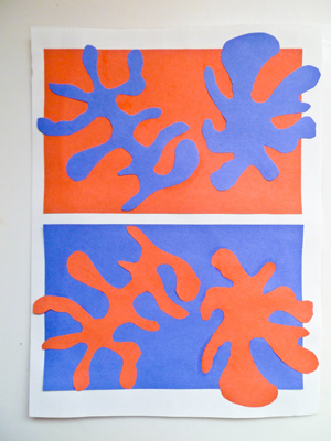 Paper cutting with Matisse