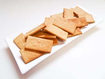 Whole wheat honey crackers