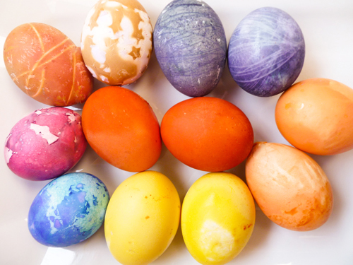 Naturally dyed eggs – for Easter or whenever!