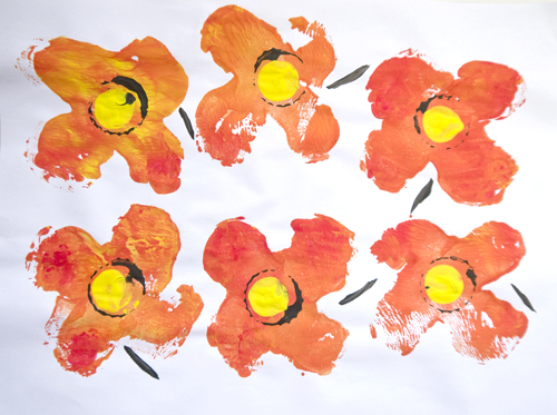 Fine art for kids – Stamping with Marimekko