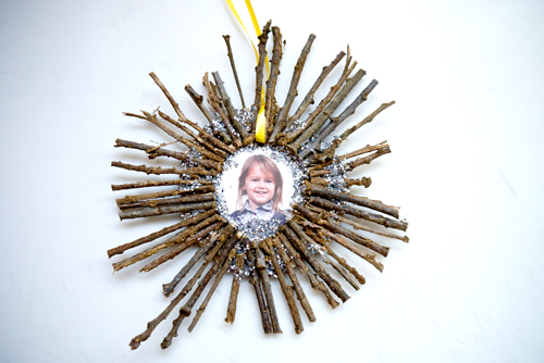 Twig holiday ornament