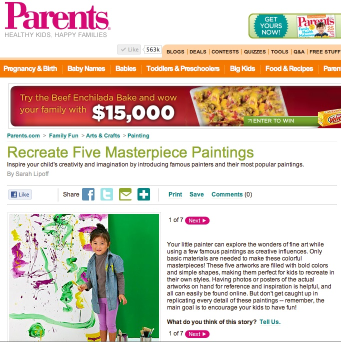 Fine art for kids: Parents.com