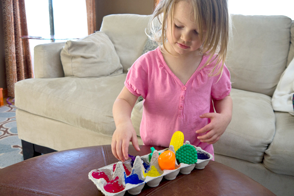 Egg carton color fun