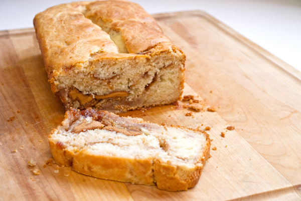 peanut butter and jelly quick bread