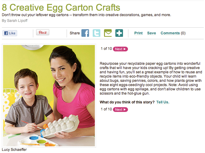 Egg-citing egg carton crafts – perfect for Earth Day!