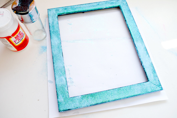glitter picture frame