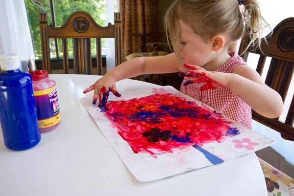 sticker finger paint