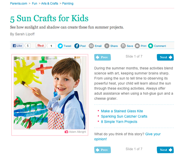 Sunny crafts perfect for summer!
