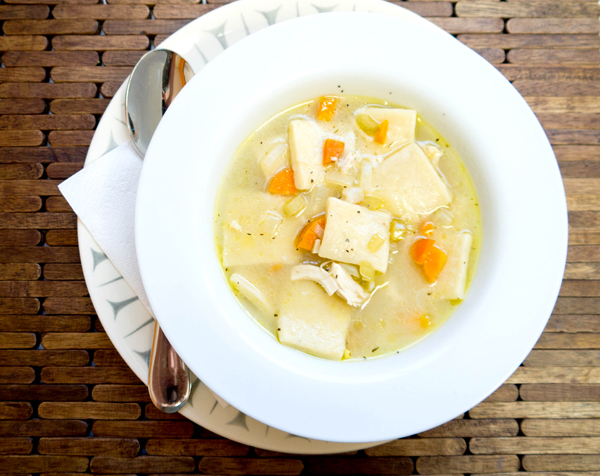 Chicken-n-dumplins (or something) soup