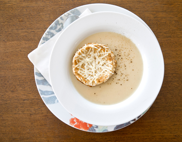 Roasted celery root soup