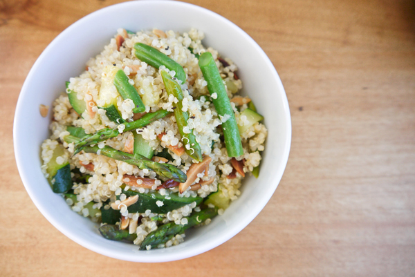 Spring vegetable quinoa pilaf | So says Sarah...