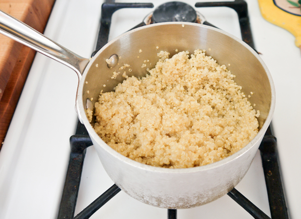 cooked quinoa