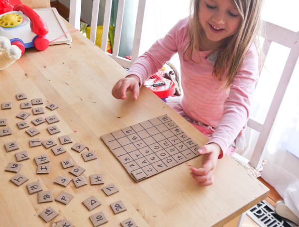 Transform a cardboard box into a fun word game