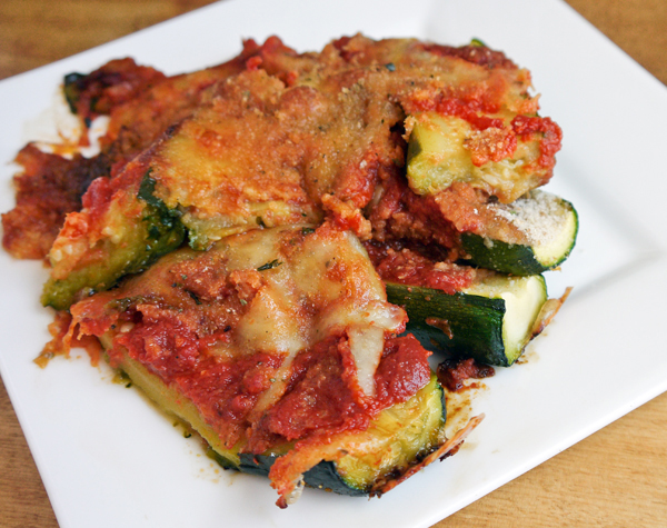 Easy and healthy baked zucchini Parmesan