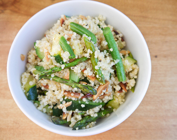 Spring vegetable quinoa pilaf